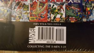Photo of the rear cover of The X-Men Omnibus, Vol. 1 variant Kirby Cover, courtesy of Matthew Columbus.