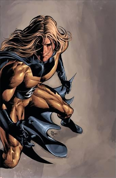A textless version of Sentry on the cover of Dark Avengers #13