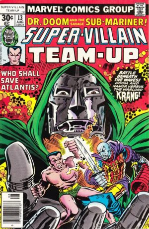Namor with Dr. Doom in Super-Villain team-Up (1975) #13
