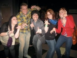 At Lady Gaga with my Marketing Clients and Britt in 2009.
