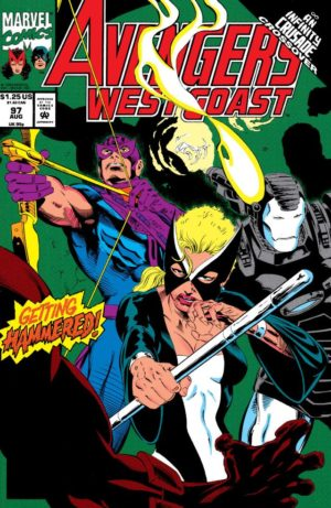 Avengers West Coast - 0097 - One of the final Mockingbird appearances for over a decade.