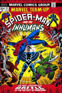 The Inhumans team up with Spider-Man in Marvel-Team-Up-1972-0011