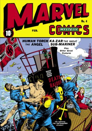 Namor's first cover, on Marvel Mystery Comics #4