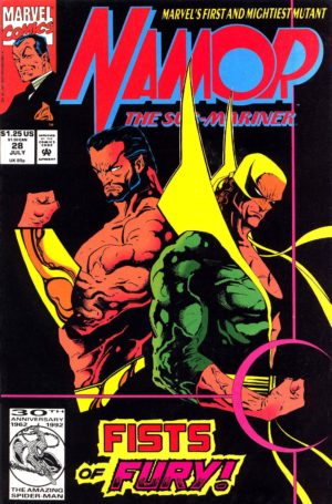 Iron Fist's return in Namor - The Sub-Mariner (1990) #28