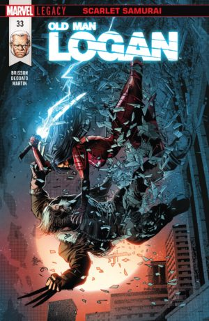 Old Man Logan #33, cover by Mike Deodato Jr. with colors by Frank Martin