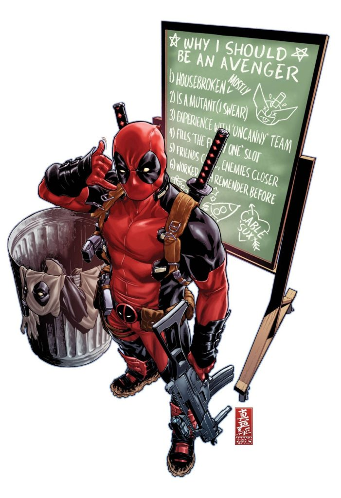 Uncanny Avengers (2015B) #1 Deadpool variant by Mark Brooks