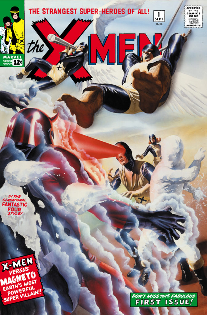 "This is the ""mass market"" cover by Alex Ross that was widely available to all booksellers outside of the direct market."