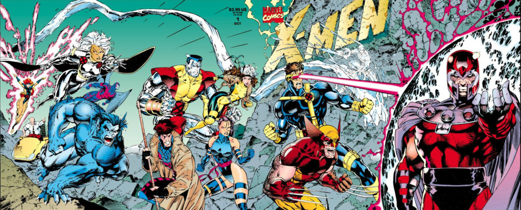 X-Men, Vol. 2 (1991) #1 - the full gatefold of all four covers.