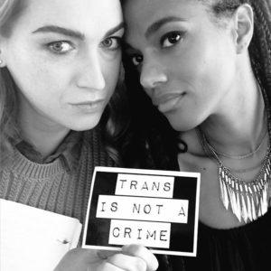 Jamie Clayton and Freema Agyeman, stars of Netflix's Sense8.