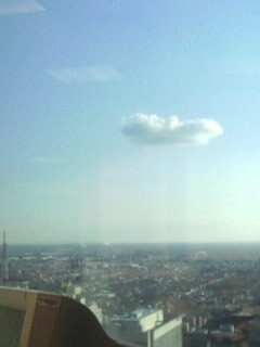 One lonely cloud