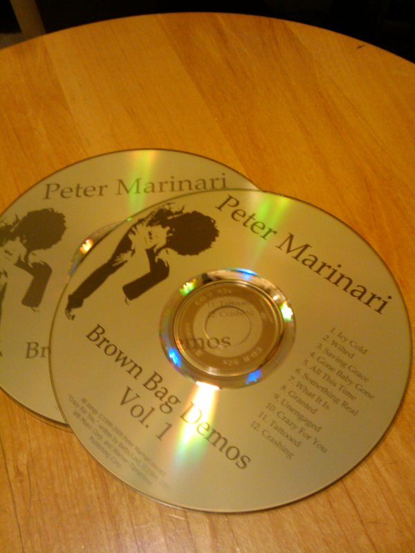 Brown Bag Demos discs, hot off the press.